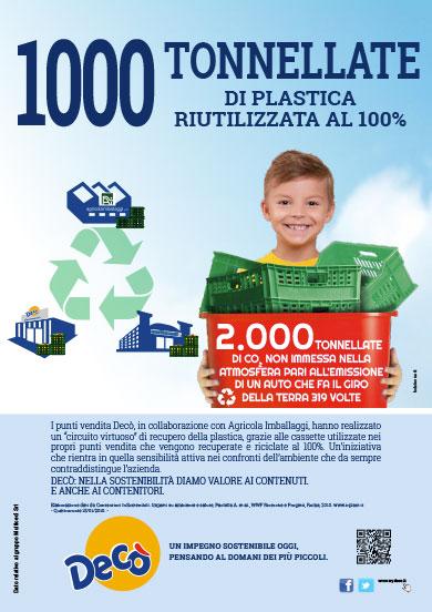 1000 tonnellate riciclate con gli imballaggi!