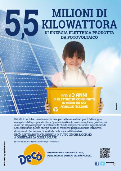 Il fotovoltaico Decò per l'energia pulita