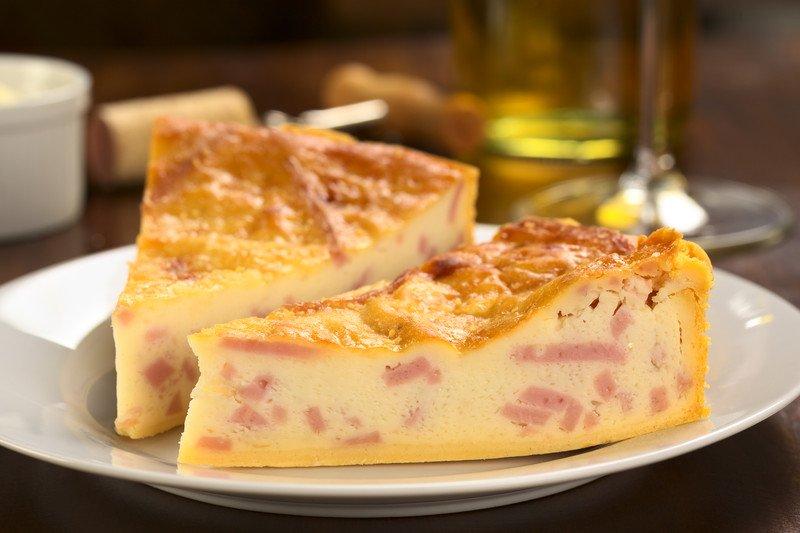 Quiche al prosciutto cotto e formaggio